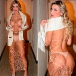 Andressa Urach Usa Vestido Totalmente Transparente em Evento