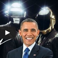 Obama Canta Get Lucky do Daft Punk