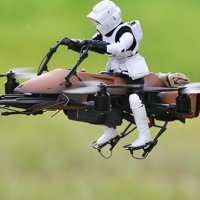 Drone Speeder Bike de Star Wars Vira Brinquedo
