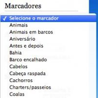 Marcadores em Menu Suspenso no Blogger
